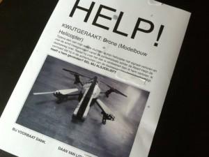Flyer van Nijmeegse dronepiloot