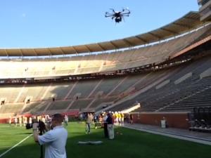 Drone bespiedt Frans team