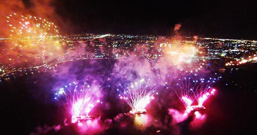 Vuurwerk filmen met drone is strafbaar