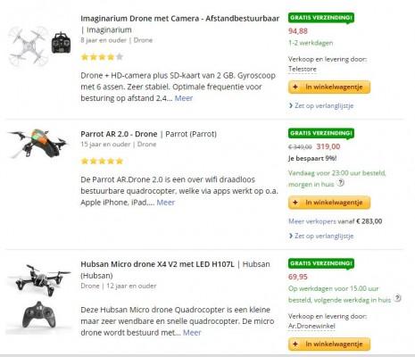 Drone assortiment bol.com