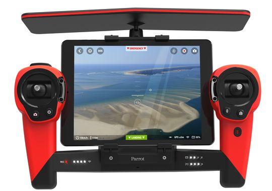 De Skycontroller biedt plaats voor een smartphone of tablet
