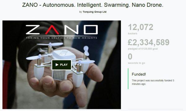 ZANO drone einde campagne