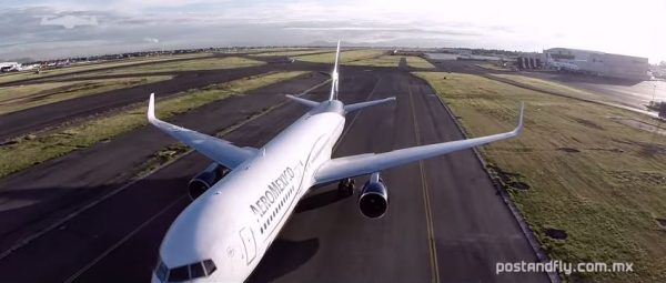 Vliegtuig komt aan