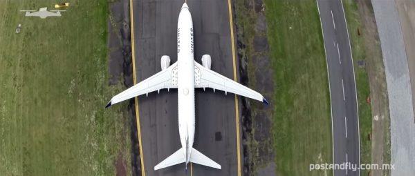 Vliegtuig van boven