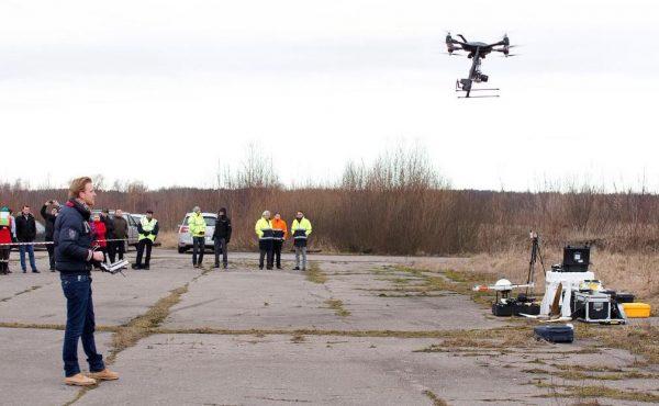 Een RPAS-demonstratie van Aerialtronics