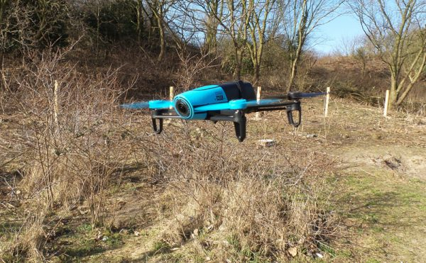Bebop drone net na opstijgen