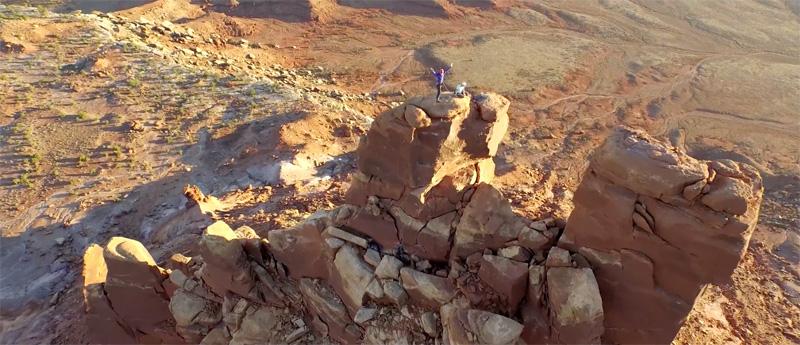 Drone legt Amerikaanse rotslandschappen in ultra HD vast