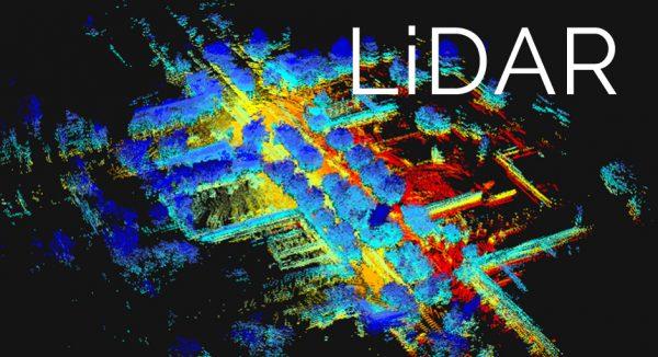 Een 3D-kaart gemaakt met LiDAR