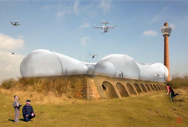 Droneluchthaven Overijssel vanaf de grond