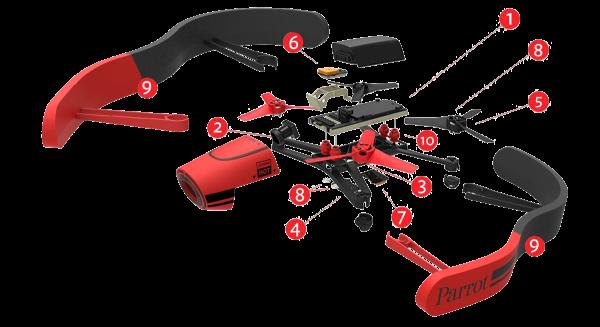De Bebop Drone is voorzien van flink wat sensoren