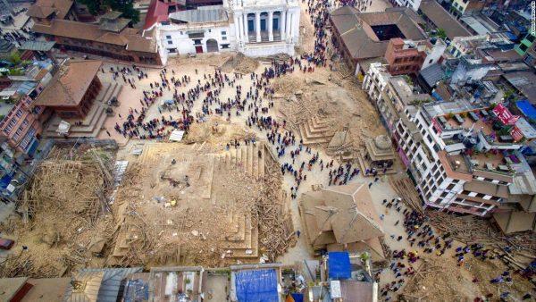 Aardbevingsschade Kathmandu Nepal