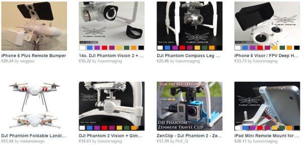 3D geprinte drone-accessoires