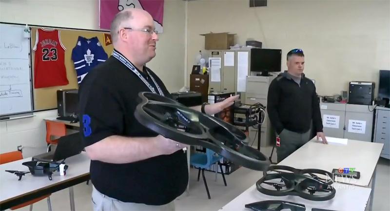 Canadese highschool gaat droneles geven