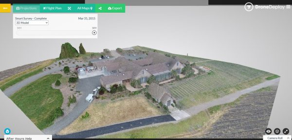 DroneDeploy huis in 3D
