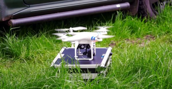 Drone met warmtebeeldcamera