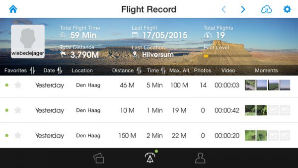 Flight Record DJI Pilot app