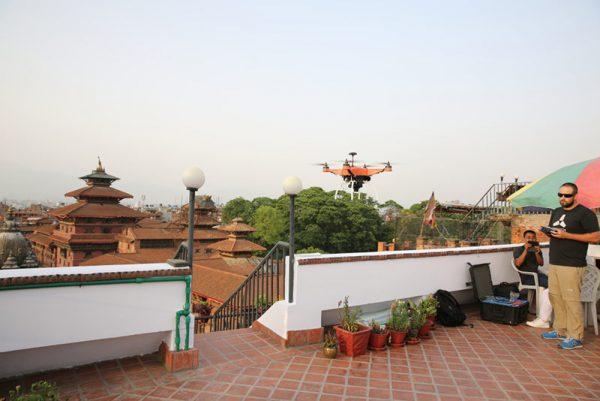 Skycatch drones boven Kathmandu