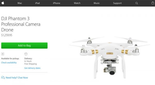 DJI Phantom 3 in Apple Store