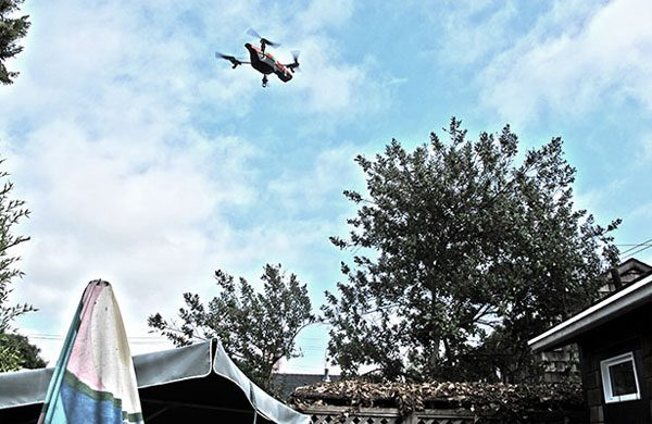 Drone boven tuin