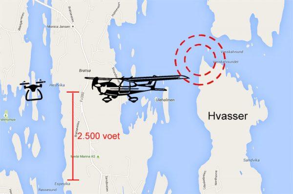 Botsing met drone Noorwegen