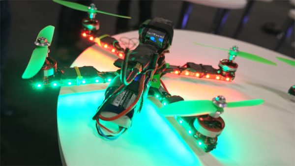 Race quadcopter leds