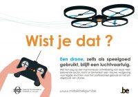Belgische campagneposter verantwoord dronegebruik