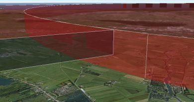 Een 3D visualisatie van een no fly-zone. Bron: Aeret