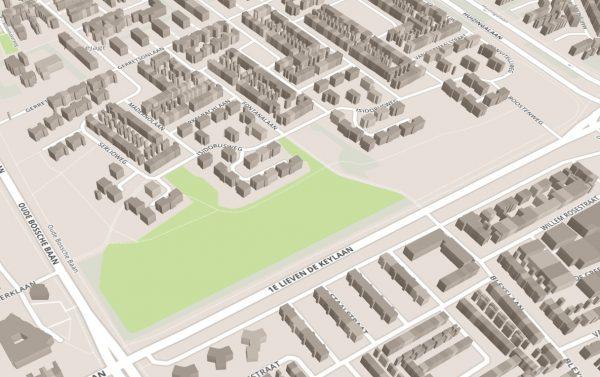 3D weergave van gebouwen