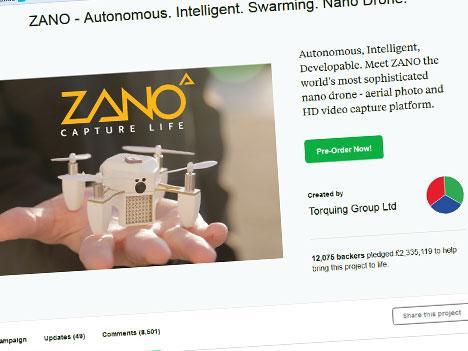 Zano Drone onderzoek Kickstarter