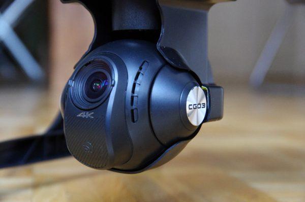 De CGO3 4K camera kan - inclusief gimbal - eenvoudig verwijderd worden