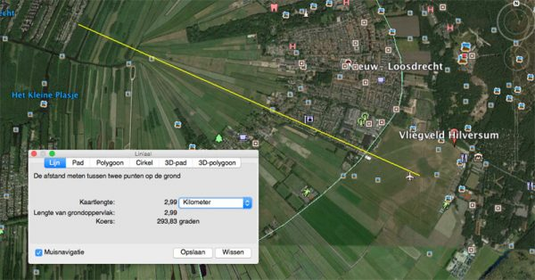 Vliegveld Hilversum, met aan de linkerkant de 'Ster van Loosdrecht'