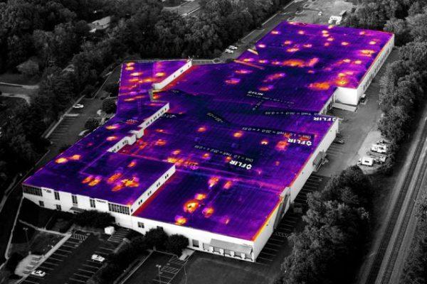 Thermische dakinspectie met infraroodcamera