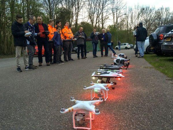 Op locatie 3 blijven de meeste drones aan de grond staan. Foto: Barend Houtsmuller