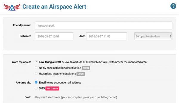Create-Airspace-Alert
