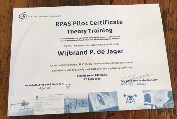 Het felbegeerde RPAS Pilot Certificate