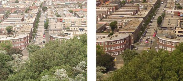 Een uitsnede uit beide foto's. Opklikken voor groot