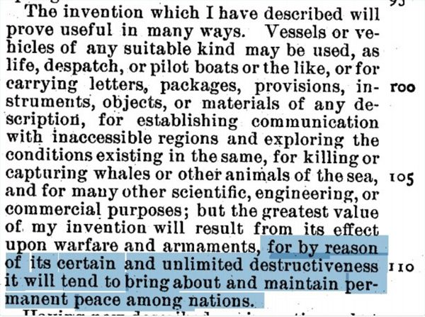 Tesla-drone-patent