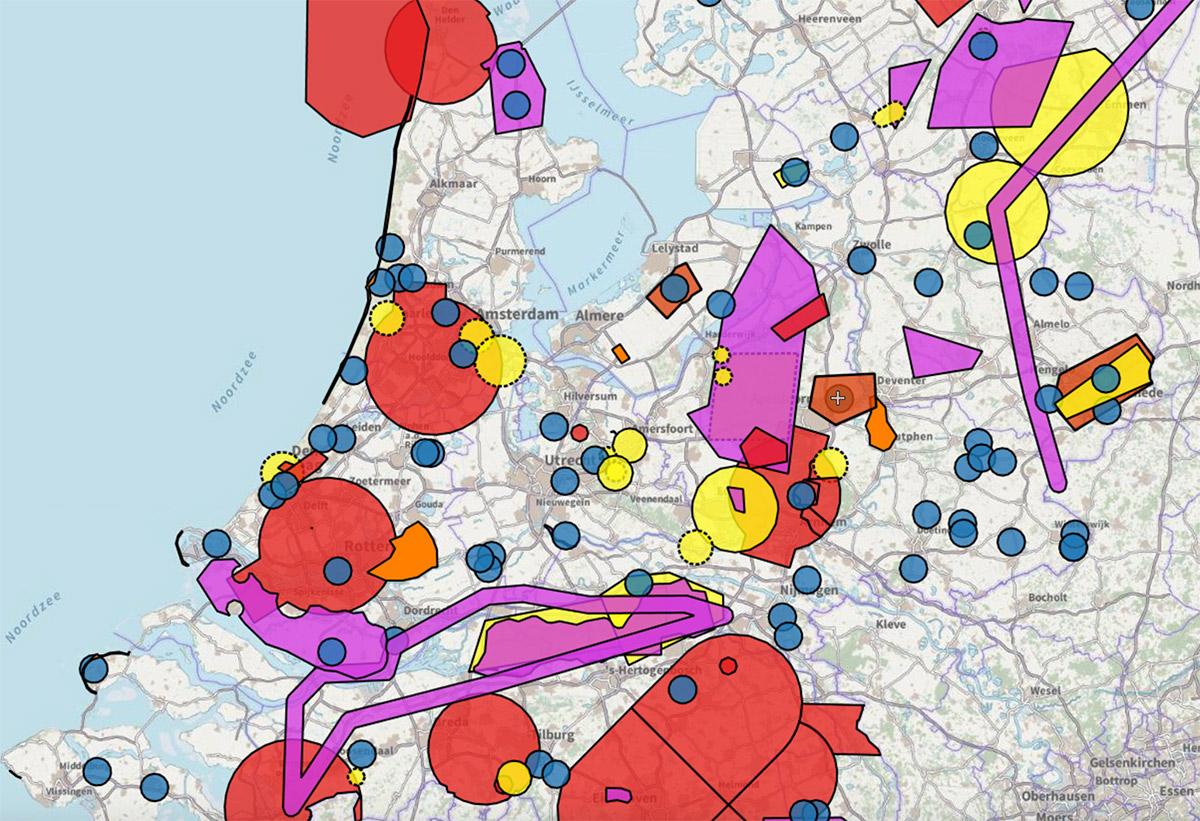 Klik om de interactieve drone-kaart te openen