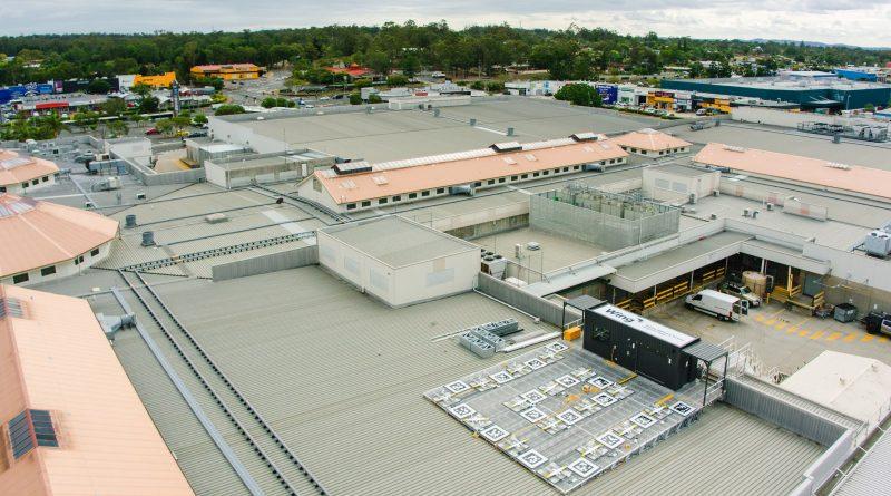 Drone delivery vanaf dak winkelcentrum